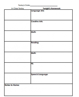 Free Reading Worksheets   Ereading Worksheets K  Learning Student Homework Planner Template