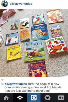 Olivia's World Pics: Books