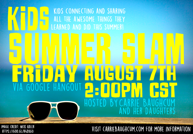 Be Part of the Kids Summer Slam