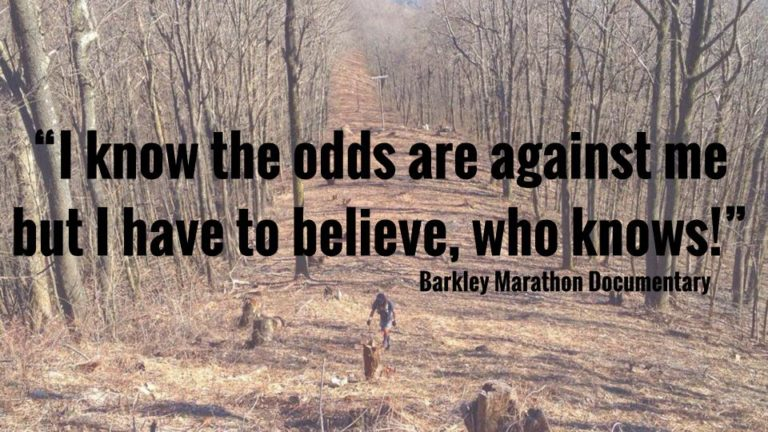 Barkley Marathons: 22.3 Things It Can Teach Teachers (and Us) Quote via CarrieBaughcum.com